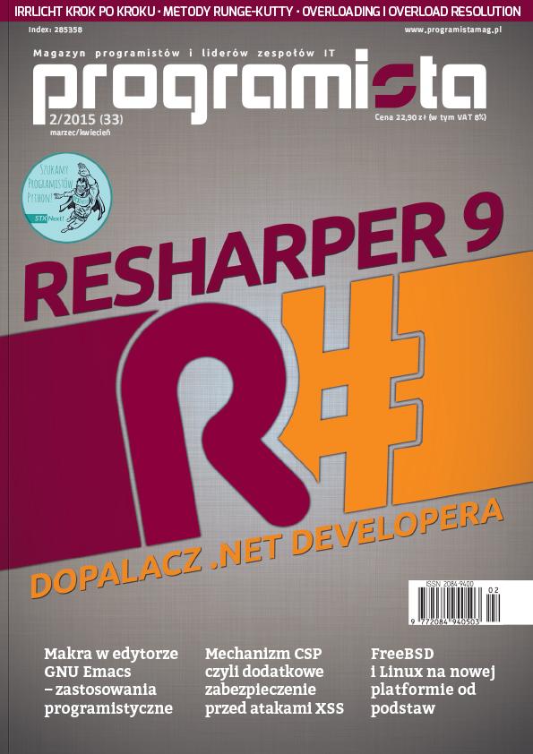 Programista 02/2015 (33) marzec [okładka]