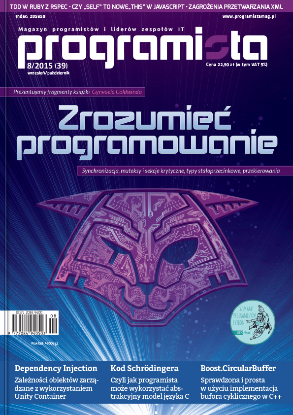 Programista 10/2016 (53) listopad/grudzień [okładka]