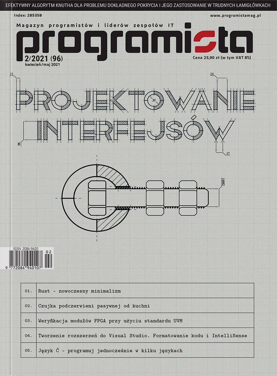 Programista 2/2021 (96) kwiecień/maj [okładka]