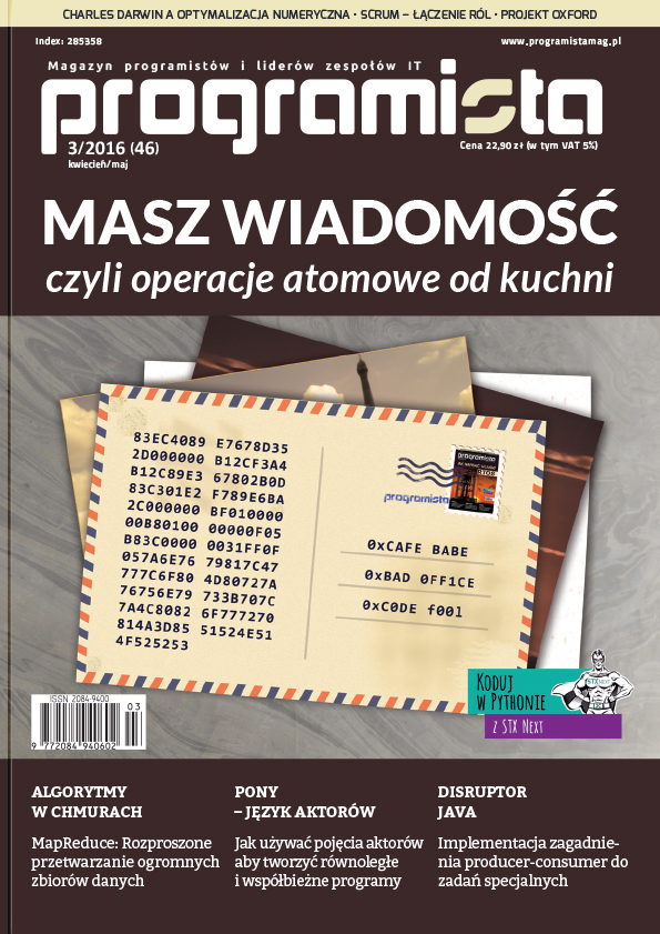 Programista 03/2016 (46) kwiecień/maj [okładka]